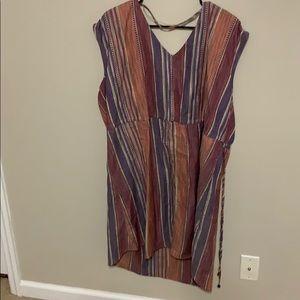 Multicolored shift dress